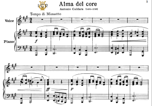 Alma del core, High Voice in A Major, A. Caldara. For Soprano, Tenor. Tablet Sheet Music. A5 (Landscape).Schirmer (PD) | eBooks | Sheet Music