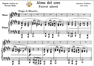 Alma del core, Low Voice in E Major, A. Caldara. For Contralto, Bass. Tablet Sheet Music. A5 (Landscape).Schirmer ((PD) | eBooks | Sheet Music