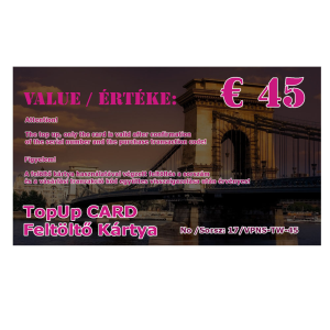 feltolto kartya 45 eur
