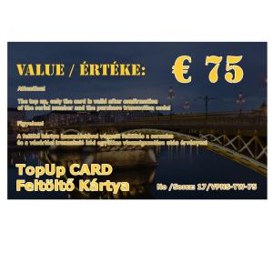 feltolto kartya 75 eur