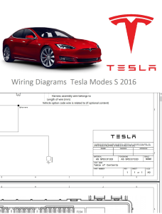 Wiring Diagrams Tesla Model S 2016 | eBooks | Technical