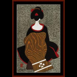 Maiko - Asian Art cross stitch pattern | Crafting | Cross-Stitch | Wall Hangings