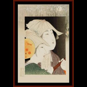 Modern Fashions - Asian Art cross stitch pattern by Cross Stitch Collectibles | Crafting | Cross-Stitch | Wall Hangings