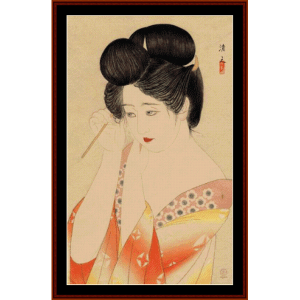 Woman After a Bath - Asian Art cross stitch pattern by Cross Stitch Collectibles | Crafting | Cross-Stitch | Wall Hangings