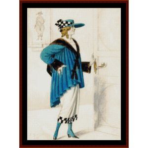 Female Costume, 1923 - Kustodiev cross stitch pattern by Cross Stitch Collectibles | Crafting | Cross-Stitch | Wall Hangings