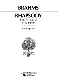 Rhapsody No. 2 in G Minor – Brahms | Music | Classical