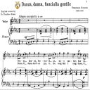 Danza, danza, fanciulla; Medium Voice in B Flat Minor, F.Durante. For Mezzo, Baritone, Soprano. Tablet Sheet Music. A5 (Landscape). Schirmer (1894) | eBooks | Sheet Music
