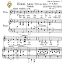 Dimmi, amor, Medium Voice in F Major, A.Del Leuto. For Mezzo, Baritone, Soprano. Tablet Sheet Music. A5 (Landscape). Schirmer (1894) | eBooks | Sheet Music