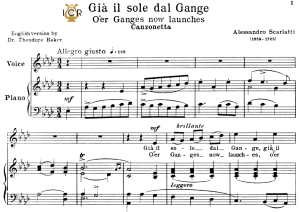 Già il sole dal Gange, Medium Voice in A Flat Major, A.Scarlatti. For Soprano, Mezzo, Baritone, Tenor.Tablet Sheet Music. A5 (L-andscape). Schirmer (1894). | eBooks | Sheet Music