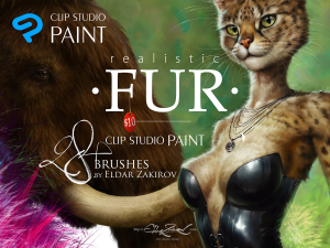 realistic fur brush set for clip studio paint