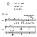 Il mio bel foco (Quella fiamma), Medium Voice in G Minor, B.Marcello. For Mezzo, Baritone.Tablet Sheet Music. A5 (Landscape). Schirmer (1894) | eBooks | Sheet Music
