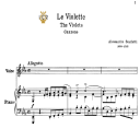 Le violette, Low Voice in E Flat Major, A.Scarlatti.  For Contralto, Bass, Tablet Sheet Music. A5 (Landscape). Schirmer (PD). | eBooks | Sheet Music