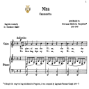 Nina, Low Voice in D Minor, G.B.Pergolesi. Low Voice. For Contralto, Bass. Tablet Sheet Music. A5 (Landscape). Schirmer (PD). | eBooks | Sheet Music