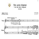 Non posso disperar, Low Voice in D Minor, G.M. Bononcini. For Mezzo, Contralto, Baritone, Bass.  Tablet Sheet Music. A5 (Landscape). Schirmer (1894). | eBooks | Sheet Music