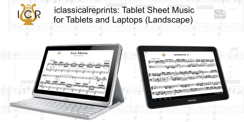 Second Additional product image for - Per la gloria d'adorarvi, Medium Voice in F Major, G.M.Bononcini. For Soprano, Tenor. Tablet Sheet Music. A5 (Landscape). Schirmer (1894)