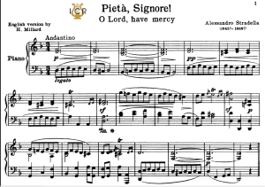 pietà,signore, high voice in d minor, a.stradella. for soprano, tenor. tablet sheet music. a5 (landscape). schirmer (1914)