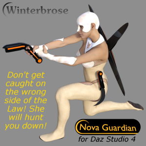 nova guardian weapon set for daz studio 4+