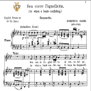 Sen corre l'agnelletta, Medium Voice in F Minor, D.Sarri. For Mezzo, Baritone. Tablet Sheet Music. A5 (Landscape). Schirmer (1894) | eBooks | Sheet Music