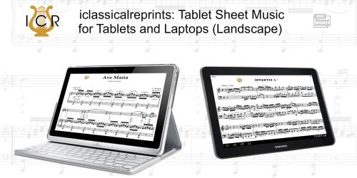 Second Additional product image for - Sento nel core, Medium Voice in F Minor, A.Scarlatti. For Mezzo, Baritone.  Tablet Sheet Music. A5 (Landscape). Schirmer (1894)