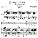 Vergin, tutto amor, Low Voice in A Minor, F.Durante. Transposition for Low Voice. For Contralto, Bass. Tablet Sheet Music. A5 (Landscape). Schirmer (1894). | eBooks | Sheet Music