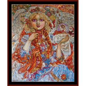 Christmas Angel - Yumi Sugai cross stitch pattern by Cross Stitch Collectibles | Crafting | Cross-Stitch | Wall Hangings