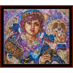 Archangel Jibreel - Yumi Sugai cross stitch pattern by Cross Stitch Collectibles | Crafting | Cross-Stitch | Wall Hangings