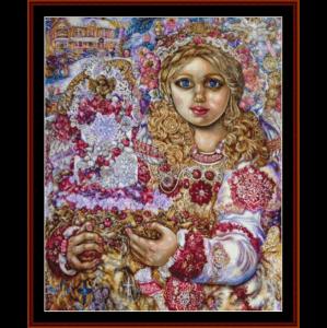 Angel of the Christmas Cake - Yumi Sugai cross stitch pattern by Cross Stitch Collectibles | Crafting | Cross-Stitch | Wall Hangings