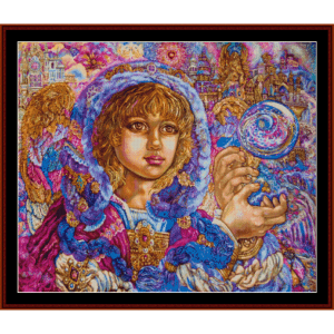 Archangel Jeremiel - Yumi Sugai cross stitch pattern by Cross Stitch Collectibles | Crafting | Cross-Stitch | Wall Hangings