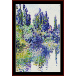 Morning on the Seine V, Monet cross stitch pattern by Cross Stitch Collectibles | Crafting | Cross-Stitch | Wall Hangings