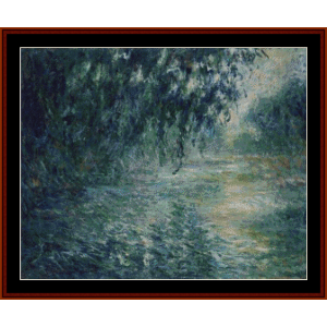 Morning on the Seine VII Monet cross stitch pattern by Cross Stitch Collectibles | Crafting | Cross-Stitch | Wall Hangings