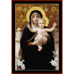 Virgin of the Lilies - Bouguereau cross stitch pattern by Cross Stitch Collectibles | Crafting | Cross-Stitch | Wall Hangings