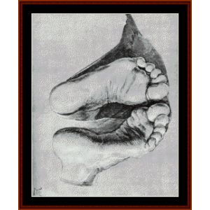 Feet, 1508 - Durer cross stitch pattern by Cross Stitch Collectibles | Crafting | Cross-Stitch | Wall Hangings