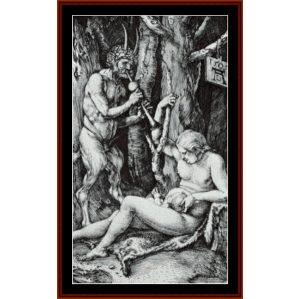 Satyr Family, 1505 - Durer cross stitch pattern by Cross Stitch Collectibles | Crafting | Cross-Stitch | Wall Hangings