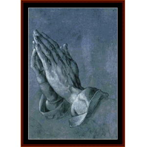 Praying Hands - Durer cross stitch pattern by Cross Stitch Collectibles | Crafting | Cross-Stitch | Wall Hangings