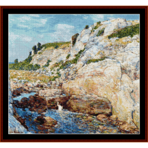 Gorge at Appledore - Childe-Hassam cross stitch pattern by Cross Stitch Collectibles | Crafting | Cross-Stitch | Wall Hangings