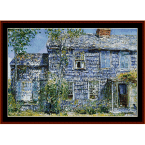 Old Mumford House - Childe-Hassam cross stitch pattern by Cross Stitch Collectibles | Crafting | Cross-Stitch | Other