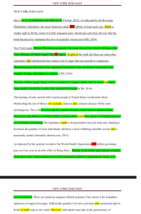 Argumentative Essay New York Soda Ban 3 Pages | Documents and Forms | Research Papers