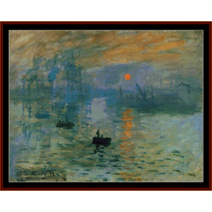 Impression, Sunrise, Postersize - Monet cross stitch pattern by Cross Stitch Collectibles | Crafting | Cross-Stitch | Wall Hangings