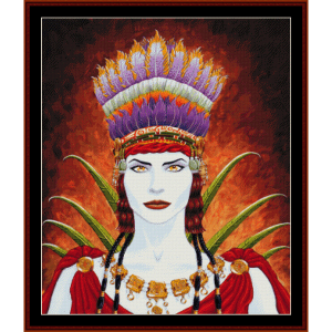 Nasca Woman - Fantasy cross stitch pattern by Cross Stitch Collectibles | Crafting | Cross-Stitch | Wall Hangings