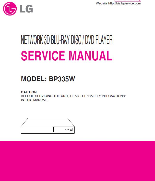LG BP335W 3D Blu-ray  Player service manual | eBooks | Technical