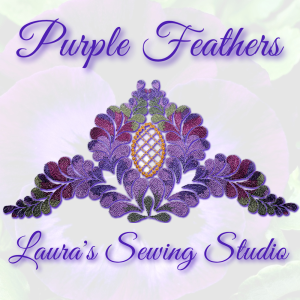 purple feathers kaleidoscope pes