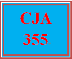CJA 355 Entire Course | eBooks | Education