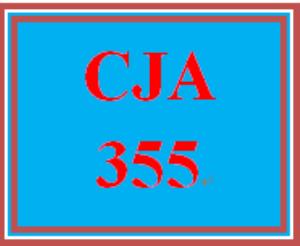 CJA 355 Entire Course | eBooks | Education