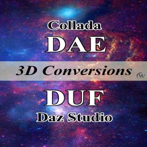 convert collada dae models to daz studio duf props