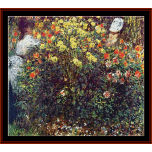 Girls in the Garden- Monet cross stitch pattern by Cross Stitch Collectibles | Crafting | Cross-Stitch | Wall Hangings