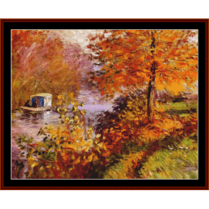 Studio Boat, 1896 - Monet cross stitch pattern by Cross Stitch Collectibles | Crafting | Cross-Stitch | Wall Hangings