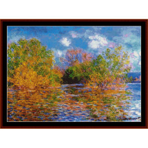The Seine Near Giverny - Monet cross stitch pattern by Cross Stitch Collectibles | Crafting | Cross-Stitch | Wall Hangings