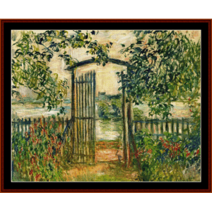Garden Gateway at Vetheuil - Monet cross stitch pattern by Cross Stitch Collectibles | Crafting | Cross-Stitch | Wall Hangings