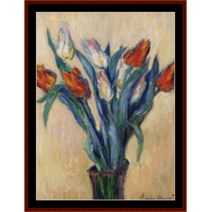 Vase of Tulips - Monet cross stitch pattern by Cross Stitch Collectibles | Crafting | Cross-Stitch | Wall Hangings