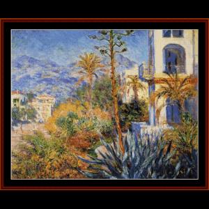 Villas at Bordighera - Monet cross stitch pattern by Cross Stitch Collectibles | Crafting | Cross-Stitch | Wall Hangings